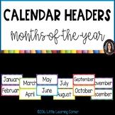 Months of the Year Calendar Header Cards ~ Polka Dot