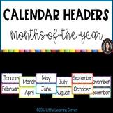Months of the Year Calendar Header Cards ~ Polka Dot