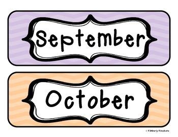 Months of the Year: Calendar Headers