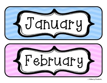 Months of the Year: Calendar Headers