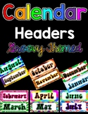 Months-of-the-Year Calendar Headers - GROOVY Themed