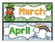 Months of the Year Calendar Headers-Holiday and Season Themed