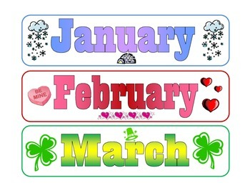 Months Of The Year Calendar Labels By Where Imagination Grows Tpt