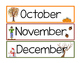 Months of the Year Calendar Pieces