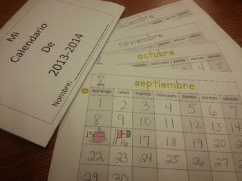 Months of the Year Calendar Spanish Booklet C-scope Common Core