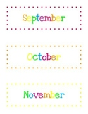 Months of the Year Calendar Toppers