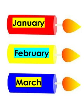 Months of the Year - Candle Design