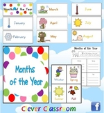 Months of the Year Cards + Seasons Poster - both hemispheres - 13 pages