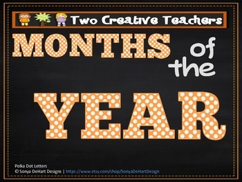 Months of the Year - Chalkboard Circles