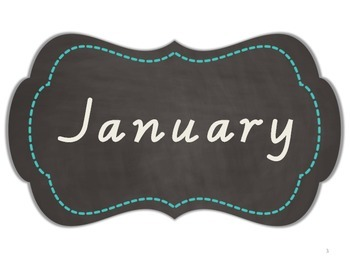 Months of the Year - Chalkboard Journal Tags