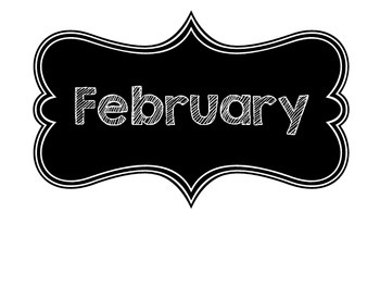Months of the Year - Chalkboard Theme
