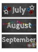 Months of the Year-Chalkboard Theme