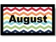 Months of the Year - Chevron Print - Multi-color
