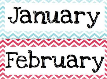Months of the Year-Chevron Style