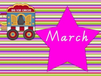 Months of the Year Circus Theme