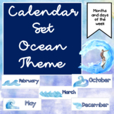 Months of the Year Classroom Decor for Beach and Wave Classrooms
