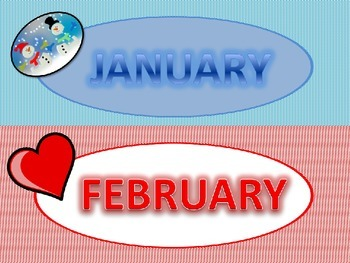 Months of the Year Classroom Display