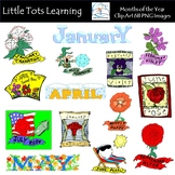 Months of the Year Clip Art - Month Clip Art
