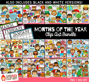 Months of the Year Clip Art Bundle