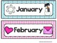 Months of the Year - Calendar Posters {Colorful Polka Dots}