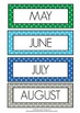 Months of the Year Coloured Polka Dot