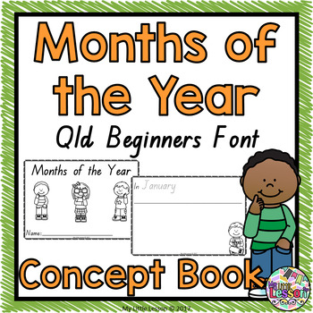 Months of the Year Concept Book QLD Beginners Font