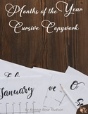 Months of the Year-Cursive Copywork