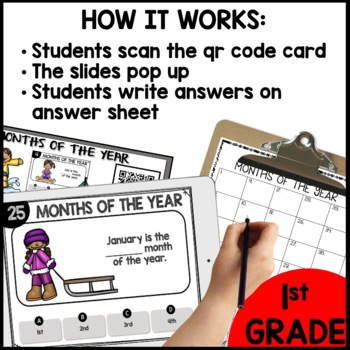 Months of the Year  DIGITAL TASK CARDS