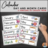 Months of the Year & Days of the Week Calendar Cards