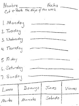Months of the Year, Days of the Week, Colors, Time,  Numbers Worksheet