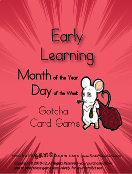 Months of the Year, Days of the Week- Gotcha Card Games (2)