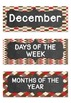 Months of the Year Days of the Week Sock Monkey Theme