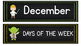 Months of the Year Days of the Week Star Wars Chalkboard Theme