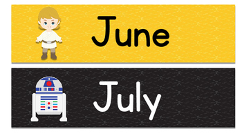 Months of the Year Days of the Week Star Wars Theme