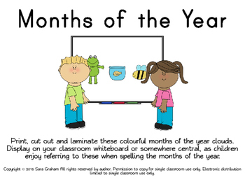 Months of the Year Display