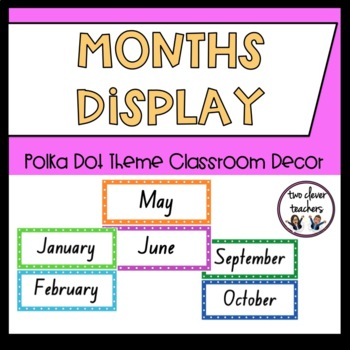 Months of the Year Display - Bright Polka Dot Theme - Foun