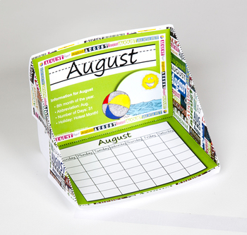 Months of the Year Display Case: August