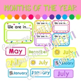 Months of the Year Display - Colour me Confetti