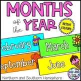 Months of the Year Labels {Bright Colors}