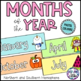 Months of the Year Labels and Display Header - Pastel Colors