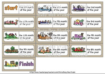 Early Finishers Activity | Dominoes: Months of the Year