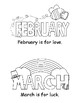 Months of the Year Easy Reader