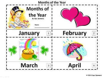 Months of the Year Emergent Reader - 2 Booklets and Presentation