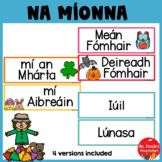 Months of the Year Flashcards (Gaeilge) in IRISH