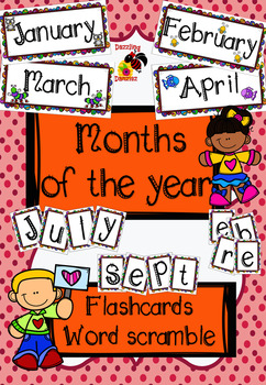 Months of the Year - Flashcards & Word Scramble