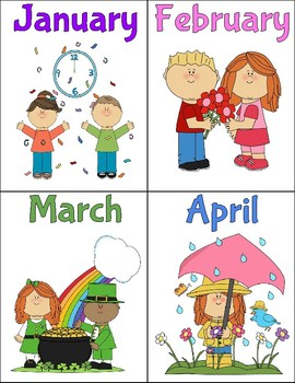 Months Of The Year Flashcards By Allison Allcorn Tpt