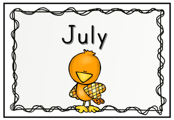 Months of the Year Flashcards (bird themed)