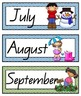 QLD Beginners Font Months of the Year Flashcards with Australian Seasons