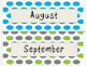 Months of the Year Freebie