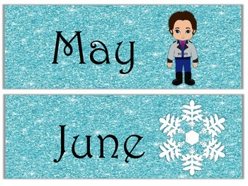 Months of the Year Frozen Theme